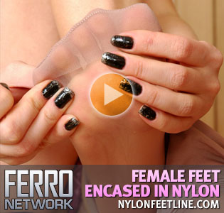 <br />NylonFeetLine.com - Female feet encased in nylon